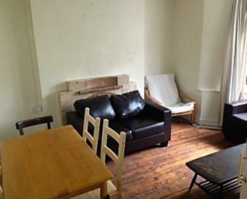 Lounge 6 bed student house Redland